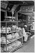 Chicken vendor, Colaba Market. Mumbai, Maharashtra, India ( black and white)