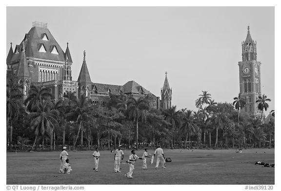 Cricket players, Oval Maiden, High Court, and University of Mumbai. Mumbai, Maharashtra, India