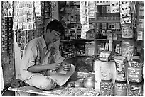 Street vendor. Mumbai, Maharashtra, India ( black and white)