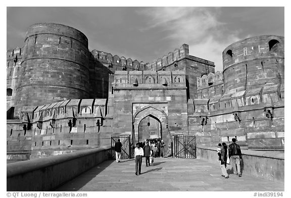 Amar Singh Gate, Agra Fort. Agra, Uttar Pradesh, India
