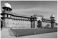 Jehangiri Palace, Agra Fort. Agra, Uttar Pradesh, India (black and white)