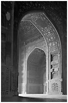 Arches in Jawab, Taj Mahal. Agra, Uttar Pradesh, India (black and white)