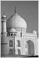 Taj Mahal, late afternoon. Agra, Uttar Pradesh, India ( black and white)