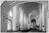 Nave of Se Cathedral , Old Goa. Goa, India ( black and white)