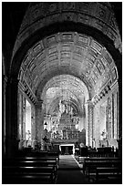 Side chapel, Se Cathedral , Old Goa. Goa, India (black and white)