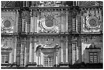 Facade detail, Basilica of Bom Jesus, Old Goa. Goa, India ( black and white)