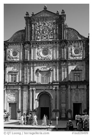 Basilica of Bom Jesus, Old Goa. Goa, India (black and white)