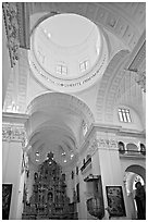 Inside dome of Church of St Cajetan, Old Goa. Goa, India ( black and white)