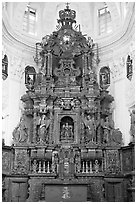 Altar, Church of St Cajetan, Old Goa. Goa, India ( black and white)