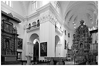 Church of St Cajetan interior, Old Goa. Goa, India ( black and white)