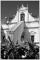 Church of St Monica, Old Goa. Goa, India ( black and white)