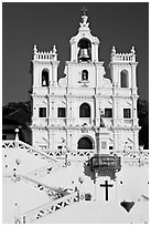 Church of our Lady of the Immaculate Conception facade, Panaji. Goa, India ( black and white)