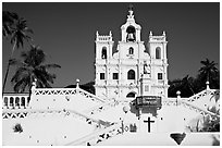 Church of our Lady of the Immaculate Conception, afternoon, Panaji. Goa, India ( black and white)