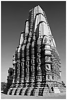 Duladeo Temple, Southern Group. Khajuraho, Madhya Pradesh, India (black and white)