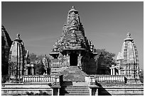 Lakshmana temple. Khajuraho, Madhya Pradesh, India ( black and white)