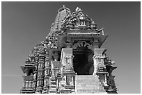 Kadariya-Mahadev temple. Khajuraho, Madhya Pradesh, India ( black and white)