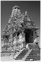 Visvanatha temple. Khajuraho, Madhya Pradesh, India (black and white)