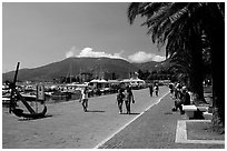 Waterfront promenade, La Spezia. Liguria, Italy (black and white)
