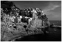 Manarola. Cinque Terre, Liguria, Italy (black and white)