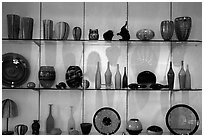 Murano Glasswork on exhibit. Venice, Veneto, Italy ( black and white)