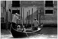 Traghetto crossing. Venice, Veneto, Italy ( black and white)