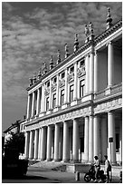 Palace. Veneto, Italy (black and white)