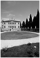 Villa Valmarana ai Nani designed by Paladio. Veneto, Italy (black and white)