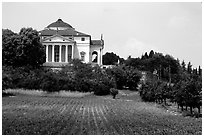 Villa Capra La Rotonda a classic design by Paladio. Veneto, Italy ( black and white)