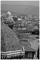 The city, with Dome by Brunelleschi in the foreground. Florence, Tuscany, Italy ( black and white)