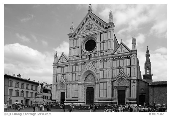 Santa Croce. Florence, Tuscany, Italy (black and white)