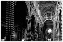 Interior of the Duomo. Siena, Tuscany, Italy (black and white)