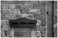 Mailbox. San Gimignano, Tuscany, Italy (black and white)