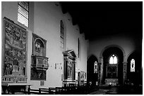 Interior of Chiesa di Sant'Agostino. San Gimignano, Tuscany, Italy ( black and white)