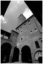 Torre Grossa. San Gimignano, Tuscany, Italy ( black and white)