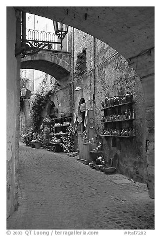 Old street and arches. Orvieto, Umbria