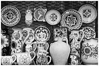 Assortment of ceramic pieces for sale. Orvieto, Umbria ( black and white)