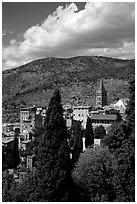 The town. Tivoli, Lazio, Italy ( black and white)