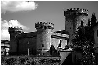 Castle. Tivoli, Lazio, Italy ( black and white)