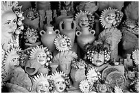 Terra Cotta ornaments. Tivoli, Lazio, Italy ( black and white)