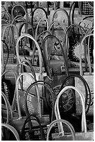 Leather bags. Tivoli, Lazio, Italy (black and white)