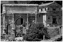 Arch of Septimus Severus, Roman Forum. Rome, Lazio, Italy ( black and white)