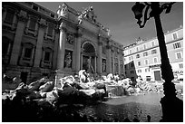 Trevi Fountain. Rome, Lazio, Italy ( black and white)