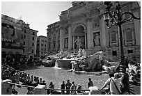 Trevi Fountain. Rome, Lazio, Italy (black and white)