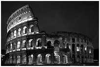 Colosseum, the city greatest amphitheater. Rome, Lazio, Italy ( black and white)
