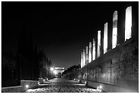 Via Sacra at night. Rome, Lazio, Italy (black and white)
