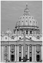 Basilic Saint Peter, catholicism's most sacred shrine. Vatican City (black and white)