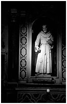 Statue of a saint. Naples, Campania, Italy ( black and white)