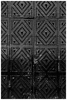Detail of the door of church Gesu Nuovo. Naples, Campania, Italy ( black and white)