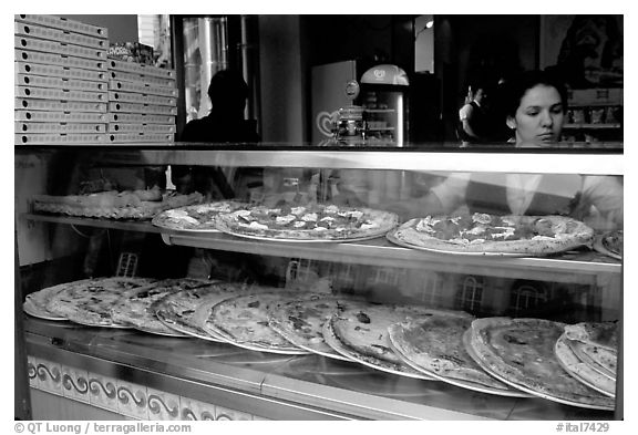 Pizza restaurant. Naples, Campania, Italy (black and white)