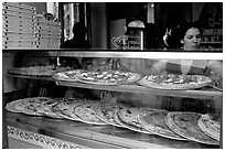 Pizza restaurant. Naples, Campania, Italy ( black and white)